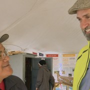 Lawrence having a laugh with Boatbuilder
