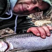 Gord Ellis with a Lake Superior Steelhead