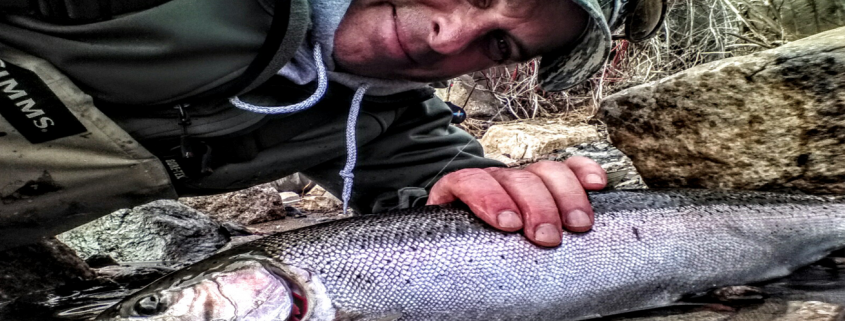 Gord Ellis with a Lake Superior Steelhead
