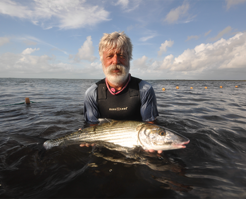 Dave Holding Tagged Bonefish
