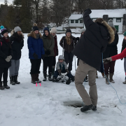 Queen's University Biological Station, ice fishing