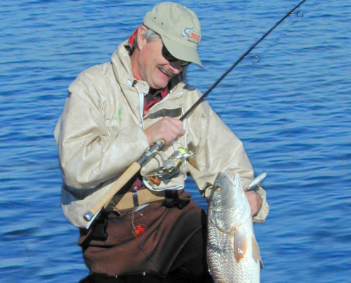Frank Sargeant with a redfish