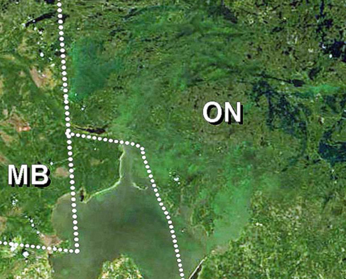 Photo of Lake of the Woods Modis Satellite with borders